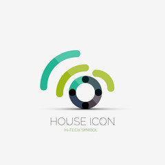 Home wifi company logo, business concept