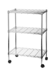 Metal shelves rack