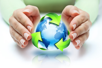 Wall Mural - the recycling protect our planet