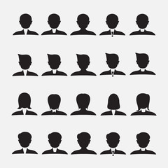 Business people silhouettes, vector eps.8