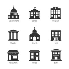 Government building icons