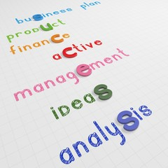 the colorful word success traversed business words