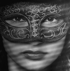 Mystery masked woman