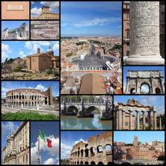 Rome photos - travel photo collage set