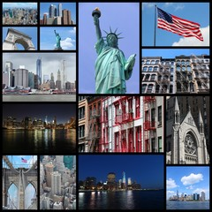 New York City - travel photo collage set
