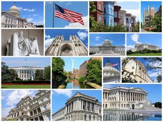 Washington DC - travel photo collage set