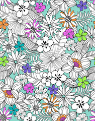 Cute flowers ~ seamless background