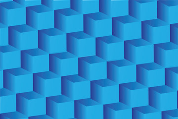 abstract image of cubes background in blue