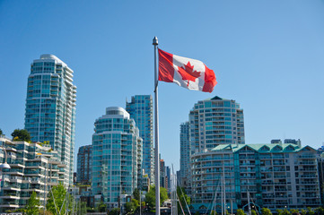 Wall Mural - Beautiful view of Vancouver, British Columbia, Canada