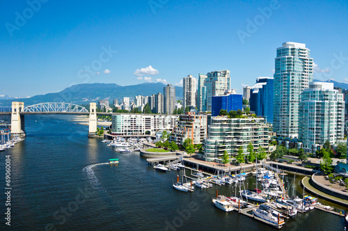 Wall mural Beautiful view of Vancouver, British Columbia, Canada