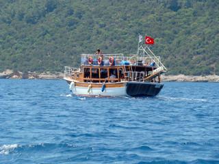Yacht in the Bodrum, Turkey