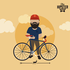 Hipster graphic background,hipster elements and icons, vector