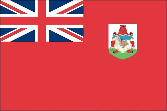 Illustration of the flag of Bermuda