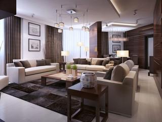 Living room modern interior
