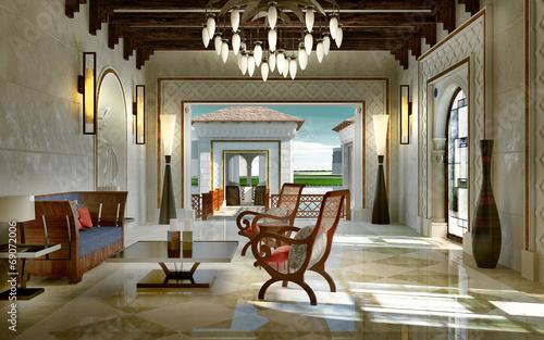 Lobby spa oriental style zdj stockowych i obraz w - Salon style oriental chic ...
