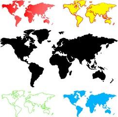 Illustration of World maps