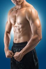 Muscular Asian male torso