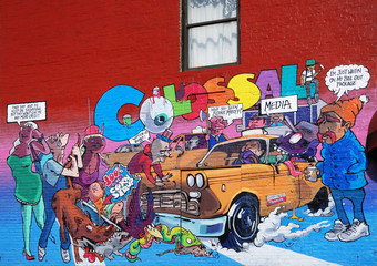 Graffiti in the city New York