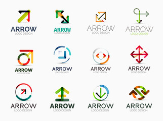 Collection of arrow company logos