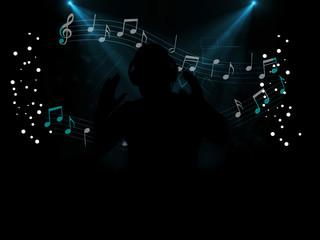 dj disco party at night