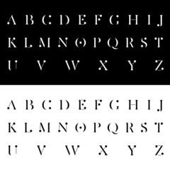 modern alphabetic fonts vector illustration