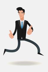 Man jumping illustration