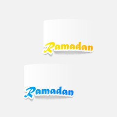 realistic design element: Ramadan