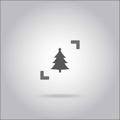 Illustration on grey background with shadow - Christmas Tree