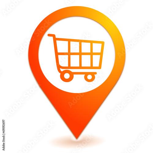 caddie sur symbole localisation orange fichier vectoriel libre de droits sur la banque d. Black Bedroom Furniture Sets. Home Design Ideas