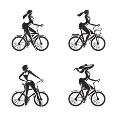 Bicycle icons. Vector format