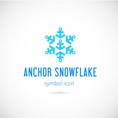 Snowflake From Anchors Vector Concept Symbol Icon