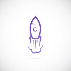 Vector rocket symbol icon