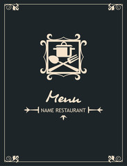 menu design with fork and spoon