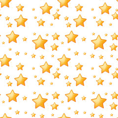 Seamless yellow stars