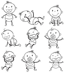 Babies with different moods