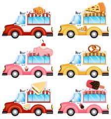 Vans selling foods