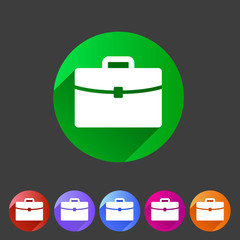Briefcase portfolio flat icon