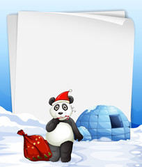 Panda and igloo