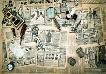 antique accessories, vintage fashion newspaper advertising