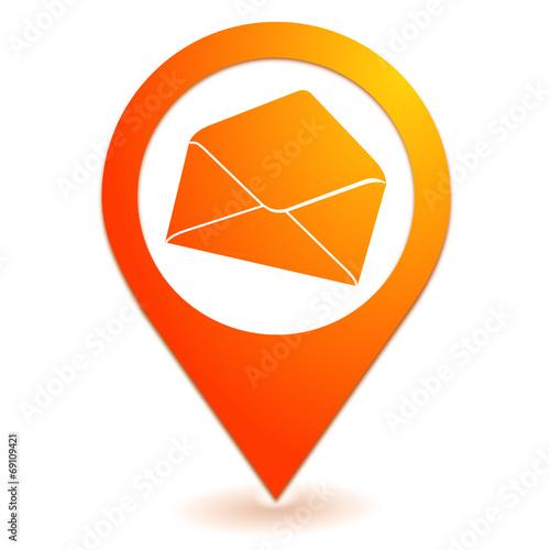 enveloppe sur symbole localisation orange fichier vectoriel libre de droits sur la banque d. Black Bedroom Furniture Sets. Home Design Ideas