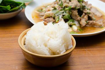 Namtok grilled pork's neck spicy salad