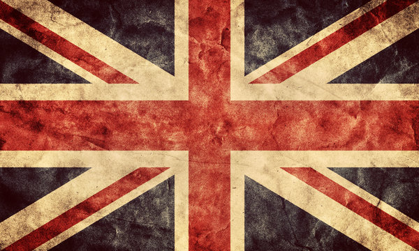 The United Kingdom grunge flag. Vintage flags collection