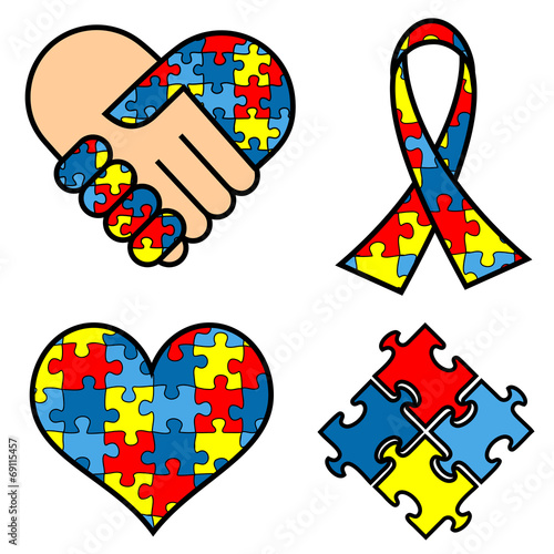 Autism Awareness Symbols Stock Image And Royalty Free Vector Files