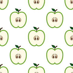 Green cut apples pattern