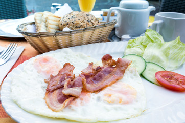 bacon and Prepared Egg