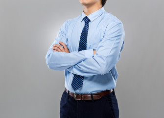 Mid section of Businessman