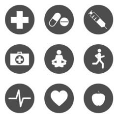 Icons Gesundheit Piktogramme