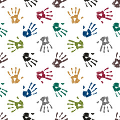 Seamless hand print pattern