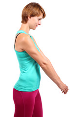 Dehnung der oberen Rücken und Nackenmuskulatur