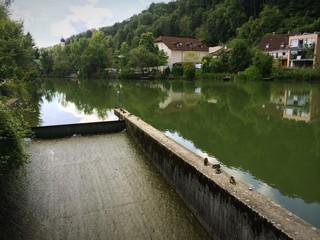 Flößerrutsche an der Loisach in Wolfratshausen